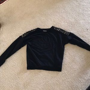 Edgy Forever 21 Cut-out Sweatshirt top!